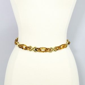 Tortoise Link Chain Belt